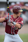 Florida State Seminoles shortstop Justin Gonzalez (10) during a game against the South Florida Bulls on March 5, 2014 at Red McEwen Field in Tampa, Florida.  Florida State defeated South Florida 4-1.  (Copyright Mike Janes Photography)