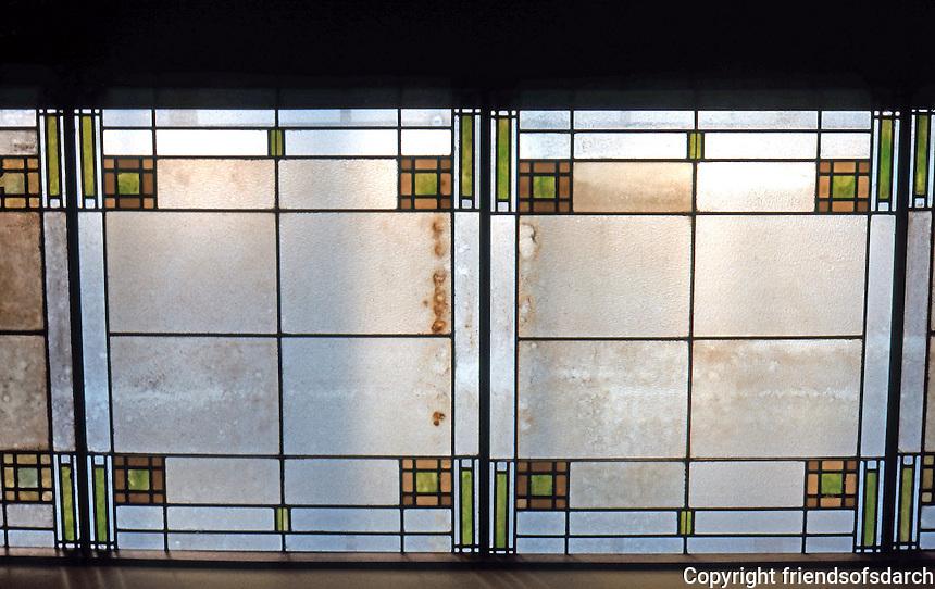 F.L. Wright: Unity Temple, Oak Park. Skylight, Room opposite foyer.  Photo '76.