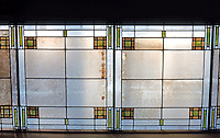 F.L. Wright: Unity Temple, Oak Park. Skylight, Room opposite foyer.  Photo '76.