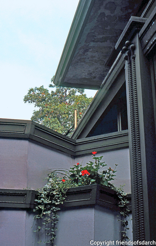 F.L. Wright: Frank W. Thomas House. Detail: Entrance.  Photo '77.