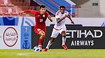 United Arab Emirates vs Kyrgyz Republic during their AFC U23 Asian Cup Uzbekistan 2022 Qualifiers Group E match at the Fujairah Stadium on October 25, 2021 in Al Fujairah City, United Arab Emirates. Photo by Victor Fraile / Power Sport Images for The AFC