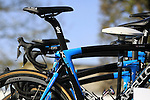 Sir Bradley Wiggins' Team Sky Pinarello K8s bike at sign on before the start of the 113th edition of the Paris-Roubaix 2015 cycle race held over the cobbled roads of Northern France. 12th April 2015.<br /> Photo: Eoin Clarke www.newsfile.ie