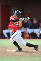 Rutgers University Scarlet Knights DH Joe D'Annunzio (7) during a game against the University of Cincinnati Bearcats at Bainton Field on April 19, 2014 in Piscataway, New Jersey. Rutgers defeated Cincinnati 4-1.  (Tomasso DeRosa/ Four Seam Images)
