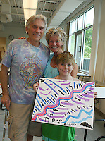 As The World Turns Ellen Dolan with significant other Doug Jeffrey & daughter Angela at the 12th Annual SoapFest - Painting Party to benefit Marco Island YMCA, theatre program & Art League of Marco Island on May 15, 2010 on Marco Island, FLA. (Photo by Sue Coflin/Max Photos)