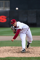 Wisconsin Timber Rattlers starting pitcher Brandon Knarr (33) throws a pitch during a game against the Cedar Rapids Kernels on September 8, 2021 at Neuroscience Group Field at Fox Cities Stadium in Grand Chute, Wisconsin.  (Brad Krause/Four Seam Images)