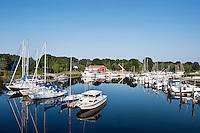 Sailboats in harbor, Pocasset, Cape Cod, MA