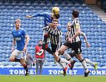 06.03.2021 Rangers v St Mirren: Connor Goldson and Marcus Fraser clash heads