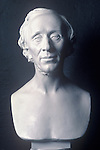 Hans Christian Anderson. Bust in museum at Odense Denmark.