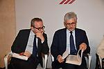"""ARMANDO BARUCCO E MASSIMO D'ALEMA<br /> CONVEGNO """"THINKING DEMOCRACY NOW"""" DELLA FONDAZIONE FELTRINELLI <br /> CENTRO STUDI AMERICANI ROMA 2020"""