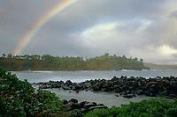 Winter rainbow<br /> Keokea Beach County Park<br /> Island of Hawaii<br /> Hawaii