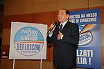 SILVIO BERLUSCONI<br /> CAMPAGNA ELETTORALE DI ALFREDO ANTONIOZZI POPOLO DELLE LIBERTA' HOTEL ERGIFE ROMA 2008