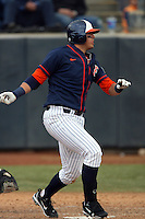 February 21 2010: Nick Ramirez of Cal. St. Fullerton during game against Cal. St. Long Beach at Goodwin Field in Fullerton,CA.  Photo by Larry Goren/Four Seam Images