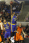 Montakit Fuenlabrada's Ludde Hakanson (r) and Herbalife Gran Canaria's Eulis Baez (l) and Bo McCalebb during Eurocup, Top 16, Round 2 match. January 10, 2017. (ALTERPHOTOS/Acero)