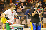 Berlin, Germany, January 31: The Samba Kids perform during the 1. Bundesliga Damen Hallensaison 2014/15 semi-final hockey match between Uhlenhorster HC (light blue) and Duesseldorfer HC (dark blue) on January 31, 2015 at the Final Four tournament at Max-Schmeling-Halle in Berlin, Germany. Final score 4-7 (1-3). (Photo by Dirk Markgraf / www.265-images.com) *** Local caption ***