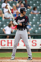 Sacramento River Cats first baseman Nat Freiman (50) at bat during the Pacific Coast League baseball game against the Round Rock Express on June 19, 2014 at the Dell Diamond in Round Rock, Texas. The Express defeated the River Cats 7-1. (Andrew Woolley/Four Seam Images)