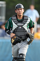 Jamestown Jammers catcher Austin Barnes #8 during a game against the Batavia Muckdogs at Dwyer Stadium on June 27, 2011 in Batavia, New York.  Batavia defeated Jamestown 4-3.  (Mike Janes/Four Seam Images)