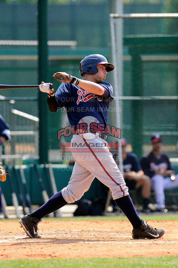 Infielder Tanner Krietemeier (62) of the Atlanta Braves farm system in a Minor League Spring Training intrasquad game on Wednesday, March 18, 2015, at the ESPN Wide World of Sports Complex in Lake Buena Vista, Florida. (Tom Priddy/Four Seam Images)