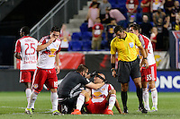 Harrison, NJ - Wednesday Aug. 03, 2016: Aurelien Collin during a CONCACAF Champions League match between the New York Red Bulls and Antigua at Red Bull Arena.