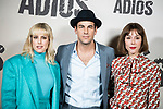 Natalia de Molina, Ruth Diaz and Mario Casas in the press junction of 'ADIOS', the new work of director Paco Cabezas, which has an undisputed and recognized cast headed by Mario Casas, the two-time winner of Goya Natalia de Molina, and Goya nominees Ruth Diaz and Carlos Bardem.<br /> November 15, 2019. <br /> (ALTERPHOTOS/David Jar)