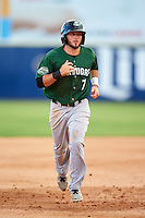 Daytona Tortugas shortstop Blake Trahan (7) runs the bases on a Aristides Aquino (not shown) grand slam home run during a game against the Brevard County Manatees on August 14, 2016 at Space Coast Stadium in Viera, Florida.  Daytona defeated Brevard County 9-3.  (Mike Janes/Four Seam Images)