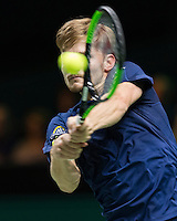 ABN AMRO World Tennis Tournament, Rotterdam, The Netherlands, 19 Februari, 2017, David Goffin (BEL)<br /> Photo: Henk Koster