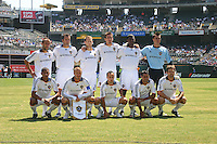 LA Galaxy starting eleven. San Jose Earthquakes defeated LA Galaxy 3-2. August 3, 2008, McAfee Coliseum, Oakland, CA.