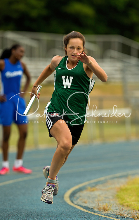 The Woodlawn School Varsity Girls and Boys Track Teams were both awarded the 2nd Place winners of the S.P.A.A. 2015 Conference, Thursday May 7, 2015. The conference meet held at Victory Christian School in Charlotte, NC.<br /> <br /> Charlotte Photographer - PatrickSchneiderPhoto.com