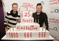 20/11/13<br /> Nicky Byrne  and Shane Filan who will be performing the Cheerios Childline Concert at the O2 Dublin this evening….<br /> Pic Collins Photos