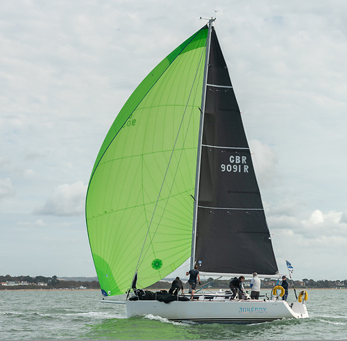 """Juke Box"" flying her North Superkote A2 Spinnaker and 3Di 780 Mainsail"