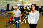 Ballyheigue Community Centre received €33,166 in Sports Capital funding to purchase gym equipment. L to r:  Brendan Moriarty (Chairman of the Ballyheigue Community Centre) and Joanna Lane (Manager of Ballyheigue Community Centre).