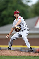 Mahoning Valley Scrappers pitcher Julian Merryweather (35) delivers a pitch during a game against the Batavia Muckdogs on August 24, 2014 at Dwyer Stadium in Batavia, New York.  Mahoning Valley defeated Batavia 7-6.  (Mike Janes/Four Seam Images)