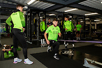 Brandon Cooper of Swansea City in the gym during the Swansea City Training at The Fairwood Training Ground in Swansea, Wales, UK.  Wednesday 08 January 2020