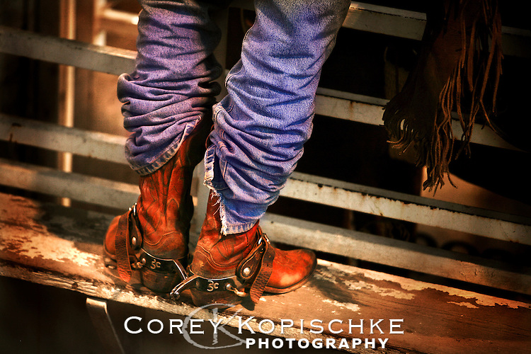 A pro bull rider prepares to ride in the Steamboat Springs pro rodeo summer series.