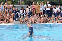 MEDELLÍN -COLOMBIA-15-06-2013. Aspecto de la exhibición de nado sincronizado del Club Estrellas de Medellin./Aspect of the exhibition of synchronized swimming of the Club Estrellas  from Medellin.  Photo:VizzorImage/Luis Ríos/STR