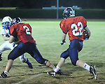 Friday night football action between St. Martin's Episcopal School and Ecole at Tony Porter Field.  St. Martin's 34-0 over Ecole.