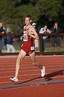 4 May 2008: Stanford Cardinal Brendan Gregg during Stanford's Payton Jordan Cardinal Invitational at Cobb Track & Angell Field in Stanford, CA.