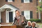 Thursday, May 31, Charlotte, North Carolina. Dedication ceremony for the new Billy Graham Library in Charlotte, North Carolina.. Former US president George HW Bush.
