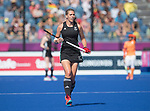 Wales Tina Evans in action during todays event<br /> <br /> *This image must be credited to Ian Cook Sportingwales and can only be used in conjunction with this event only*<br /> <br /> 21st Commonwealth Games - Wales v Malaysia - Hockey-  Day 7 - 11\04\2018 - Gold Coast Hockey Centre - Gold Coast City - Australia