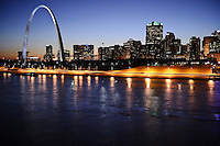 Night cityscape of Saint Louis, Missouri.