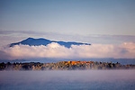 Sunrise fog on Moosehead Lake, Lily Bay State Park, ME, USA