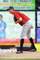 Altoona Curve pitcher Kenn Kasparek (46) during game against the Trenton Thunder at ARM & HAMMER Park on July 24, 2013 in Trenton, NJ.  Altoona defeated Trenton 4-2.  Tomasso DeRosa/Four Seam Images