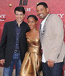 Ralph Macchio,Will Smith & Jada Pinkett-Smith at the Columbia pictures L.A. Premiere of The Karate Kid held at The Mann Village Theatre in Westwood, California on June 07,2010                                                                               © 2010 Debbie VanStory / Hollywood Press Agency