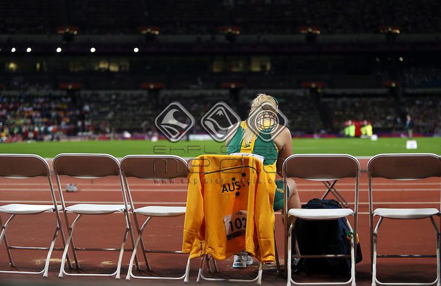 Jessica Gallagher (AUS), Women's Long Jump - F13 Final.<br /> Athletics, Olympic Stadium (Friday 7th Sept)<br /> Paralympics - Summer / London 2012<br /> London England 29 Aug - 9 Sept <br /> © Sport the library/Joseph Johnson