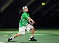 15-1-10, Tennis, Rotterdam, Raemon Sluiter geeft les aan  Kevin Griekspoor