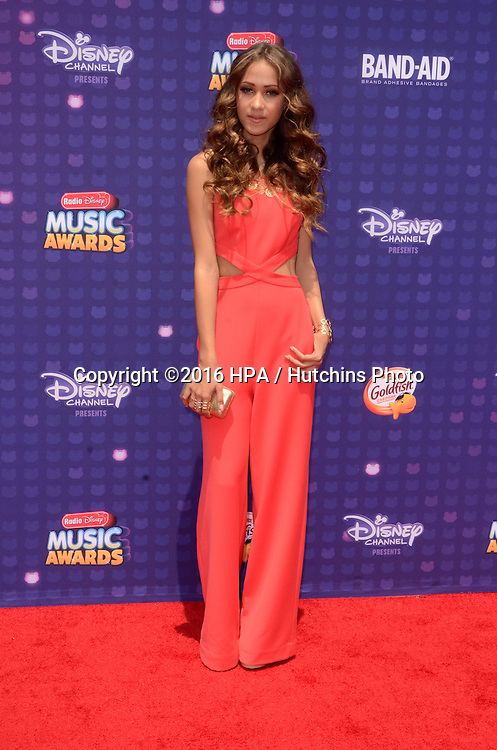 LOS ANGELES - APR 29:  Skylar Stecker at the 2016 Radio Disney Music Awards at the Microsoft Theater on April 29, 2016 in Los Angeles, CA