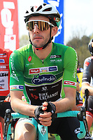 23rd April 2021; Cycling Tour des Alpes Stage 5, Valle del Chiese to Riva del Garda, Italy;  Simon Yates Team BikeExchange awaits the stage start