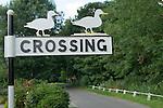 Ducks Crossing, village sign Ludham Norfolk UK. 2014, 2010S