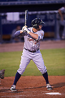 Lakeland Flying Tigers center fielder Ross Kivett (7) at bat during a game against the Tampa Yankees on April 8, 2016 at George M. Steinbrenner Field in Tampa, Florida.  Tampa defeated Lakeland 7-1.  (Mike Janes/Four Seam Images)