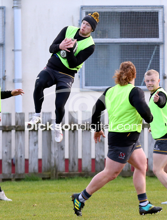 16th February 2021;  Conor Rankin during an Ulster Rugby squad pitch session held at Pirrie Park, Belfast, Northern Ireland. Photo by John Dickson/Dicksondigital
