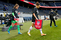 SOLNA, SWEDEN - APRIL 10: Carli Lloyd #10 of the United States walking out during a game between Sweden and USWNT at Friends Arena on April 10, 2021 in Solna, Sweden.